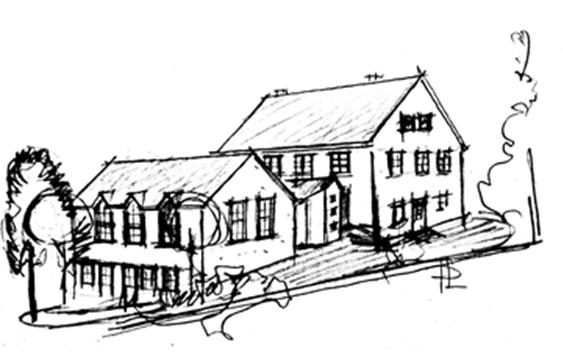 Bild: Skizze des Dorfgemeinschaftshauses